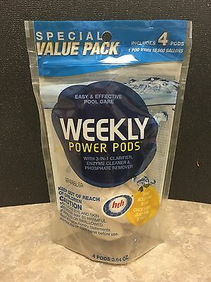 Hth Weekly Power Pods 3-In-1 Clarifier, Enzyme Cleaner & Phosphate Remover 4 Pk