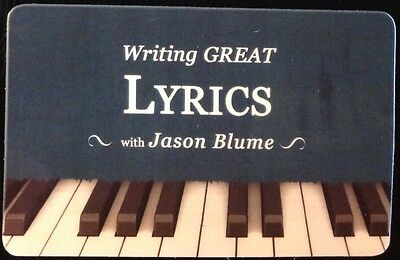 Songwriting: Writing Great Lyrics by Jason Blume audio download