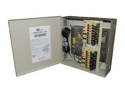 ICRealtime PWR-16DC-24A 16 CHANNEL FUSED POWER DISTRIBUTION BOX/12VDC/24 AMPS