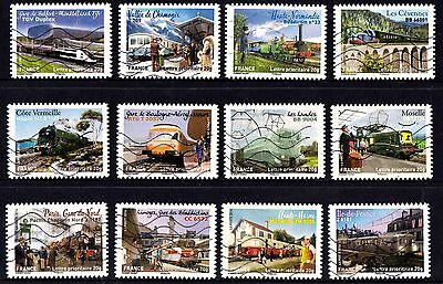 France 2014 Trains Complete Set of Stamps P Used S/A