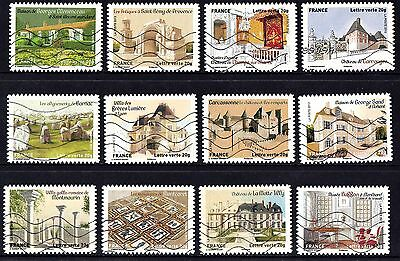 France 2013 Patrimony Heritage Complete Set of Stamps P Used S/A