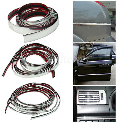 New Durable 3m Silver Car Chrome Styling Decoration Moulding Trim Strip Tape Hot