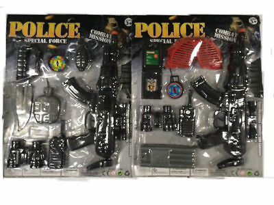 police gun set with accessories kids toy play time buy 1 get 1 free