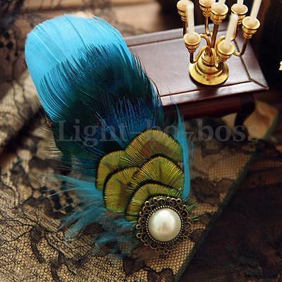 50PCS Blue Almond Pheasant Feathers For Craft/Millinery/Fly Fishing/Wedding