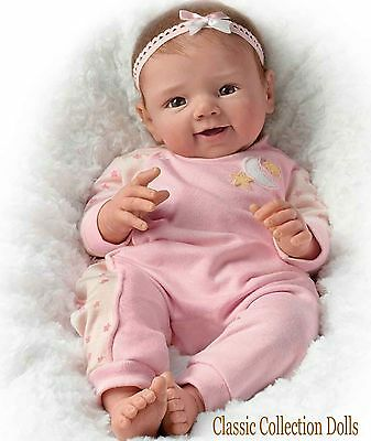 "Ashton Drake ""STAR LIGHT,STAR BRIGHT""-LIFELIKE  BABY GIRL DOLL-NEW-IN STOCK NOW!"