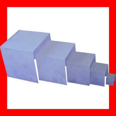 Reliable Set of 5 Acrylic Jewellery Display Risers-Frost-Square | AUSSIE Seller