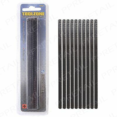 "10 x Junior Hacksaw Blades 6"" / 150mm Pinned Ends 24 TPI Metal Cutting Tool Pack"