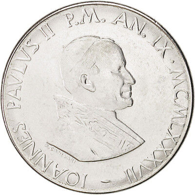 [#46874] VATICAN CITY, John Paul II, 100 Lire, 1987, KM:202