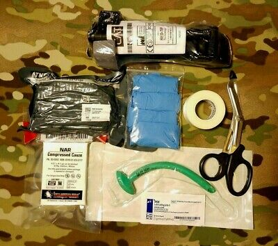 Complete Medical IFAK Trauma Refill Kit w NAR Red Tip CAT Tourniquet 2022 exp