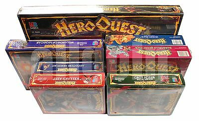Heroquest + 6 Expansion Box All Sealed Shrinkwrapped 1989 Worldwide Ship Unique!