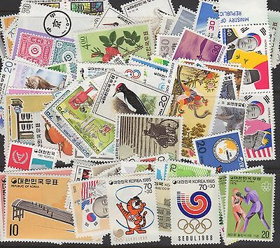Korea Stamp Collection -- 83 Different -- Mint