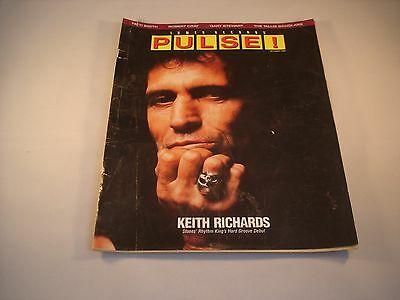 Tower Records Pulse! Magazine October 1988 Keith Richards