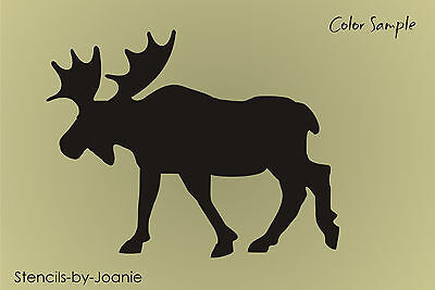 "Rustic Stencil 7.5"" Canadian Moose Mountain Lodge Cabin Decor Wilderness Signs"