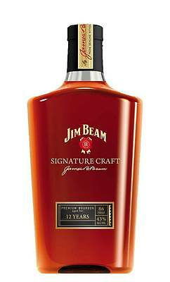 Jim Beam Signature Craft 12YO Bourbon Whiskey (700ml)