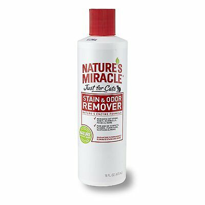 Natures Miracle Just For Cats Permanent Removes Stain & Odor Natural Enzymes 16z
