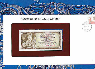 Banknotes of All Nations Yugoslavia 10 Dinara 1968 P82C UNC Prefix AB (7 digit)