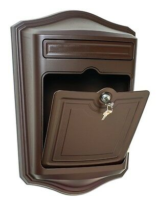 Architectural Mailboxes Maison Locking Wall Mount Mailbox Oil Rubbed Bronze NEW