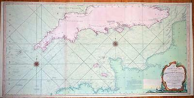 Superb antique map of The British Channel by Laurie & Whittle c1802