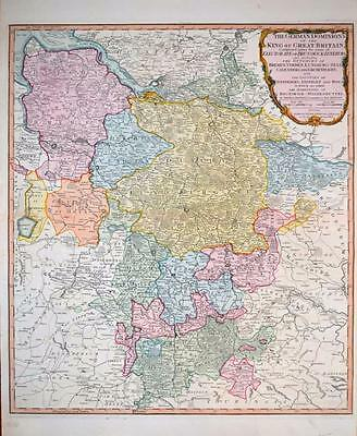 Germany. German Dominions of the King of Great Britain. Laurie & Whittle c1804
