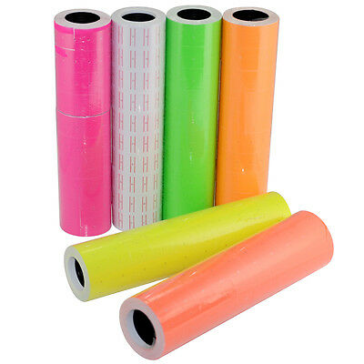 Colorful 10 Rolls Self-adhesive MX-5500 Gun Labeller Price Labels Mark Sticker