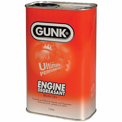 Gunk Engine Brush On Degreaser for Engine, Car Parts & Industrial 1 litre Tin X