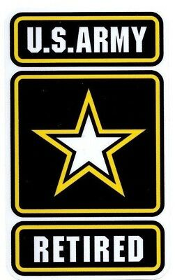 US Army Retired Window Decals Vinyl Stickers Military Embled Outdoor Durable