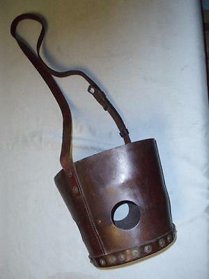 Ww11 Military Leather Embossed Horse Muzzle.