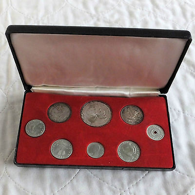 HUNGARY 1967 8 COIN PROOF SET WITH SILVER - boxed
