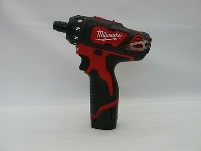 "New Milwaukee 12V Cordless M12Bd 1/4"" Screwdriver Kit Batteries/charger"