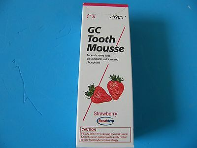 GC Tooth Mousse single 40g (Strawberry)Exp.in 12 months or longer :Free Shipping
