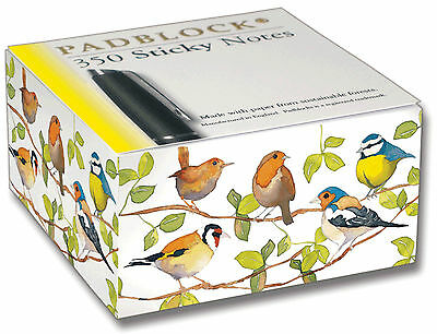 Garden Birds Sticky Post It Notes Pad Block Notebook Notepad Book Paper Gift
