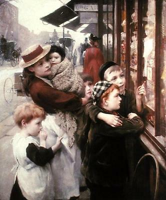 The Toy Shop Thomas Kennington Falso D'autore Quadro Nuovo Dipinto A Mano