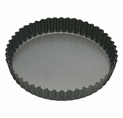 Non-Stick Large Fluted Flan Tin / Quiche Pan with Loose Base, 30 cm 12""