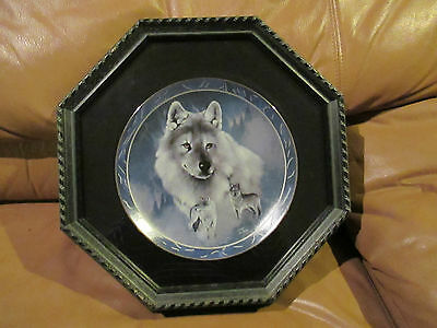 Framed - Spirit Of The Wilderness - Silver Scout-Eddie Lepage - Snow Wolf Plate