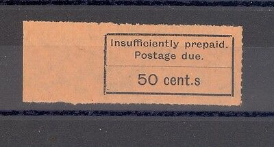 ZANZIBAR SG 16a 1926-30 POSTAGE DUE VARIETY DOT BEFORE S IN CENT.S ON 50C.