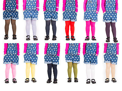 Girls Tights Plain Opaque By Sentelegri 40 Or 60 Denier, Age 2-12Years-16Colours