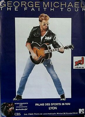 """GEORGE MICHAEL-FAITH TOUR1988 Orig.Giant Promo Poster 42x64"""" FREE INT.SHIPPING"""