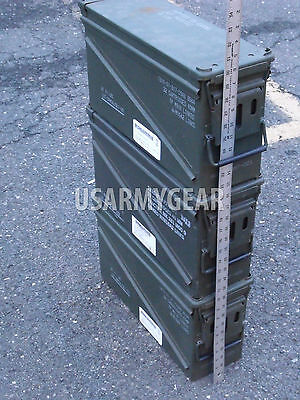 US Army Miltary GI Surplus 40mm PA-120 Large Ammo Can Stackable Steel Tool Box