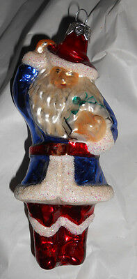 Christopher Radko Santa Claus Father Christmas Glass Tree Ornament