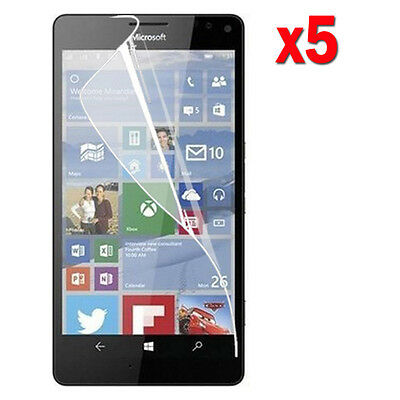 5X Crystal Clear LCD Screen Protector Film Guard For Microsoft Lumia 950 AT&T