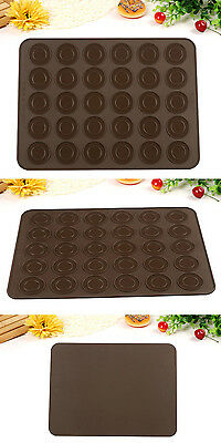 30-Cavity Silicone Macaron Baking Sheet Mat Pastry Oven Mould Molds Dessert DIY