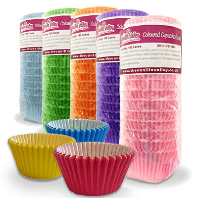 Cupcake Muffin Cases Quality Paper Baking Cups in Multiple Colours 180 PER PACK