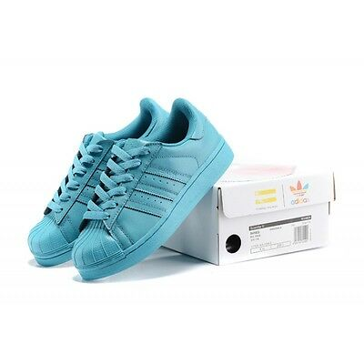 quality design b42ec 69b31 Adidas Superstar Pharrell Williams x Supercolor Chaussures - bleu ref s41822