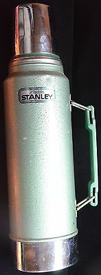 Vintage Aladdin STANLEY Thermos QUART Built In Cup STAINLESS STEEL