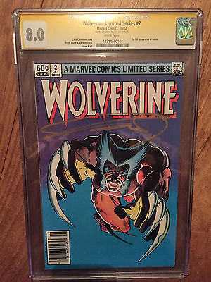 Wolverine  #2  Cgc Ss  8.0  (Signed Frank Miller)