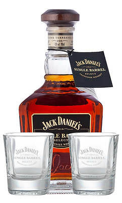 Jack Daniels Single Barrel with Engraved Glasses Gift Pack (700ml)