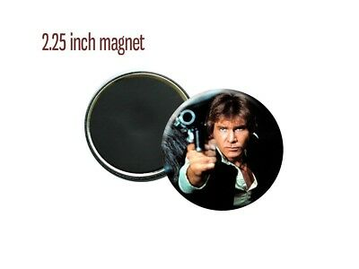 """Star Wars Han Solo Shot First Harrison Ford 1977 2.25"""" Magnet"""