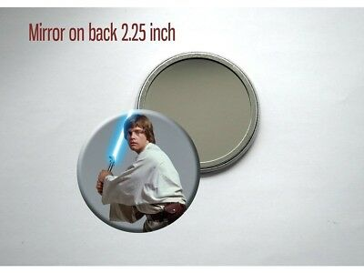 "Star Wars Luke Skywalker Mark Hamill Sci-Fi 1977 2.25"" Pocket/Purse Mirror"