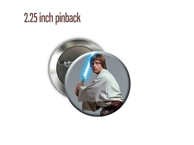 "Star Wars Luke Skywalker Mark Hamill Sci-Fi 1977 2.25"" Pinback Button"