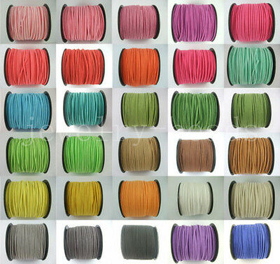 5/100 Yards Korea Faux Suede Cord Flat Leather Cord Bracelet Rope Craft 2.5mm
